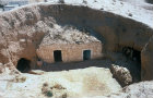 View of entrance to underground house, Matmata, Tunisia