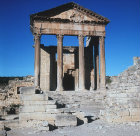 Temple of Jupiter, Juno and Minerva, 166-167 AD, Dougga, ancient Thugga, Roman city founded 6th century BC, Tunisia