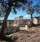 Temple of Juno Celeste 222-235 AD, east face, Dougga, ancient Thugga. Roman city founded 6th century BC, Tunisia