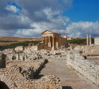 Temple of Jupiter, Juno and Minerva 166-7AD, Dougga, ancient Thugga, Roman city founded 6th century BC, Tunisia
