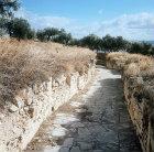 Roman street, Dougga ancient Thugga, Roman city founded 6th century BC Tunisia