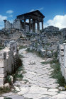 Paved street leading to Temple of Jupiter, Juno and Minerva, second century AD, Dougga, ancient Thugga, Tunisia