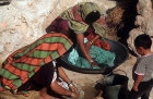Berber women washing clothes, Tunisia