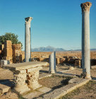 Roman temple converted into church, 6th century AD, Thuburbo Majus, Roman city begun 27 BC, Tunisia