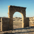 Arch of the Temple of Cybele, Thuburbo Majus, Roman city begun 27 BC, Tunisia
