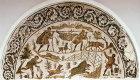 Boar hunt in which hunters catch boar in a net, Bardo Museum, Tunis, Tunisia