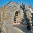 Bamboo dwellings, Island of Djerba, Tunisia