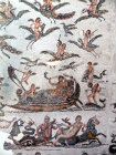 Navigation of Venus,  and flight of Putti and birds, with sea creatures,  Bardo Museum, Tunis, Tunisia