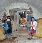 Berber Troglodyte family, Matmata, Tunisia