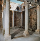 Peristyle in underground Roman villa known as the Palais de la Chasse, (Palace of the Hunt) Bulla Regia, Tunisia