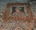 Third century AD mosaic in underground Roman villa known as the Palace of Amphitrite, Bulla Regia, Tunisia