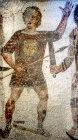 Gladiators, third century Roman mosaic, Sousse Museum, Sousse, Tunisia