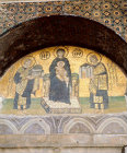 Turkey, Istanbul, Hagia Sophia, Saints Justinian and Constantine with Virgin and Child