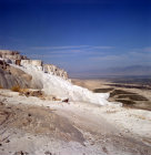 Turkey Pamukkale ancient Hierapolis calcium carbonate formations