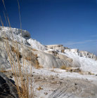 Turkey Pamukkale, ancient Hierapolis, the calcium carbonate formations