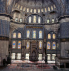 Turkey Istanbul the Sultan Ahmet or Blue Mosque built by the Imperial architect Mehmet Aga
