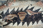 Two birds and a cup, detail from fifth century floor mosaic in the Great Church, Mopsuestia (Misis), Cilicia, Turkey