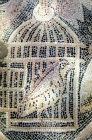 Partridge in cage, detail from fith century floor mosaic in the Great Church, Mopsuestia (Misis), Cilicia, Turkey