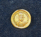 Theodosius I, Roman Emperor from 379 to 395 AD, gold coin, Archaeological Museum, Istanbul, Turkey