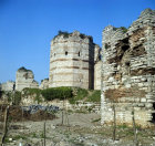 Turkey Istanbul the city walls built by Theodosius II in the 5th century AD