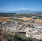 Greco-Roman theatre which seated 15,000 St Paul preached his first sermon in Asia Minor here, Perge, Pamphylia, Turkey