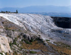 Turkey Pamukkale cascade of accumalated deposits of calcium carbonate