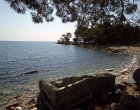 Turkey, Phaselis, Lycia, north harbour, sarcophagus on beach
