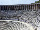 Roman theatre, second century, gallery and upper rows of seating, Aspendos in Pamphylia, Turkey