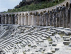 Roman theatre, second century, gallery and uppermost rows of seating, Aspendos in Pamphyilia, Turkey