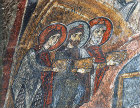 Turkey, Cappadocia,  the Magi, detail from the north wall in Eski Gumus
