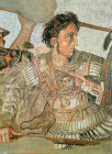 Italy, Naples, Alexander a detail from the Issus Mosaic circa 100BC