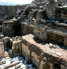 Turkey Ephesus three terraces of the Roman villa dating from 1st century AD