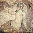Turkey Ephesus  Roman mosaic of Aphrodite