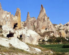 Turkey, Cappadocia rock cut churches in the Goreme Valley