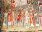 Turkey Cappadocia blessing the mission of the Twelve Apostles, mural in the rock-cut Church at Cavusin