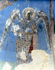 Turkey, Cappadocia,  detail of the Archangel Gabriel mural in the rock-cut Church of Tokali Kilise in the Goreme Valley