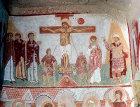 Turkey, Cappadocia, Goreme, Chapel Sakli Kilise (Hidden Church) 11thcentury AD, the Crucifixion