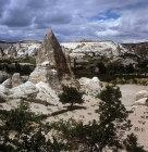 Turkey, Cappadocia, rock-cut Churches view towards Macan