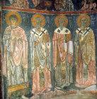 Turkey, near Nigde, the Monastery Church of Eski Gumus 12th century AD,  Doctors of the church