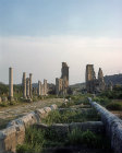Colonnaded street and Hellenistic gate tower, Perge. Turkey