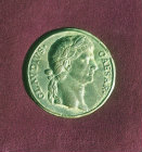 Claudius Caesar, Roman Emperor from 41 to 54 AD, bronze medallion from Turkey