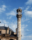 Turkey, Konya, minaret of Aziziye mosque, rebuilt 1874