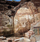 Turkey Ephesus  murals on the walls of the steam baths in a Roman villa dating from the 2nd century AD