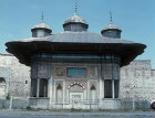 Sultan Ahmet III fountain, built in 1728, in Ottoman rococo style, outside the Topkapi gate, near Hagia Sophia, Istanbul, Turkey
