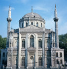 Turkey, Istanbul, Pertevniyal Valide Sultan Mosque, built for Sultana Pertevniyal, wife of Sultan Mahmud II by Italian architect, Montani, 1869-1871