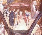 Christ heals a deaf and dumb man, 14th century mosaic, Kariye Camii, Istanbul, Turkey