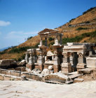 Turkey Ephesus the Fountain of Trajan at the top end of the Street of the Curetes