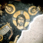 Turkey, near Nigde, the Monastery Church of Eski Gumus, conch of apse mural of Christ Pantocrator 12th century AD