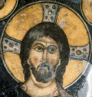Christ Pantocrator, twelfth century, conch of apse, monastery church of Eski Gumus, near Nigde, Cappadocia, Turkey