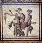 Bacchic dancers, second or third century mosaic from Samandag near Antioch, Archaeological Museum, Antioch, Turkey